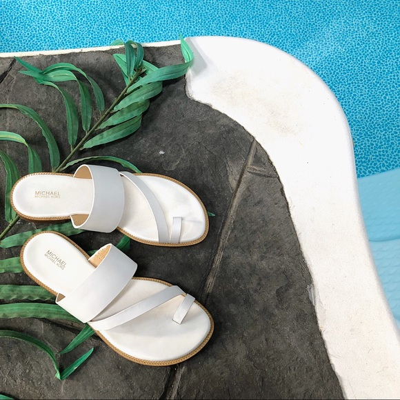 Michael Kors Pratt Flat Leather Sandal